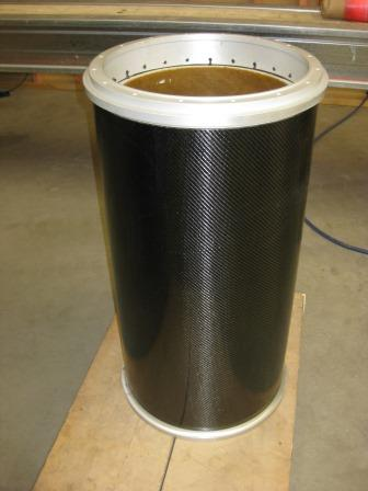 Carbon coating on a winch drum